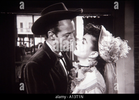 Duel At Silver Creek Year 1952 Director Don Siegel - Stock Photo