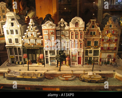 characteristic Dutch houses in miniature - Stock Photo