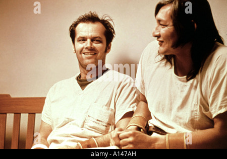 One Flew Over The Cuckoo s Nest Year 1975 Director Milos Forman Will Sampson Jack Nicholson Based upon Ken Kesey - Stock Photo
