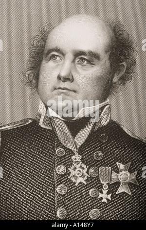 Sir John Franklin 1786 1847 Celebrated English Navigator - Stock Photo