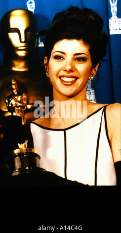 Marisa Tomei Oscar for the performance by an actress in a supporting role in 1992 for My Cousin Vinny - Stock Photo