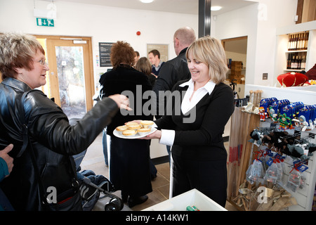 Helmsley Castle christmas mince pies - Stock Photo