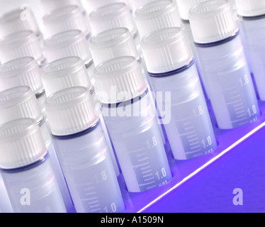 Test Tubes In Lab Laboratory Research And Development USA - Stock Photo