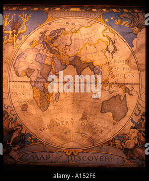 1927 Discovery map - Stock Photo