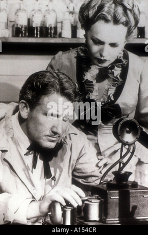 Edison The Man Year 1940 Director Clarence Brown Spencer Tracy Rita Johnson - Stock Photo