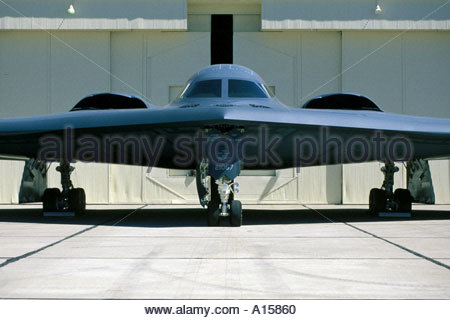 B2 Stealth Bomber at Davis Monthan Airforce Base - Stock Photo