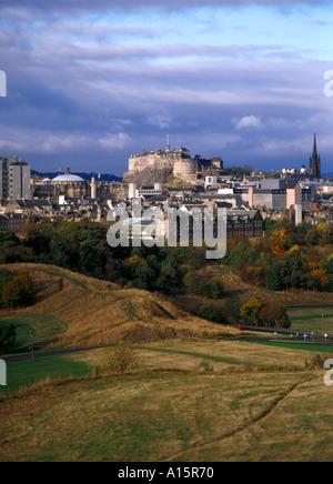 dh  HOLYROOD PARK EDINBURGH Edinburgh Castle city skyline cityscape scotland