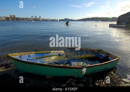 Boats of all shapes and descriptions in the waters around Plymouth, United Kingdom. - Stock Photo