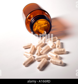 Spilled pills. Stock Photo