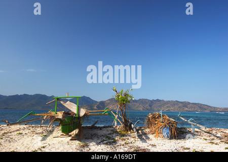 Colourful Fishing Boats On Beach, Lombok - Stock Photo