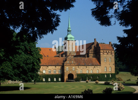 Denmark Hillerod Frederiksborg Castle palace Royal  King Frederick II - Stock Photo