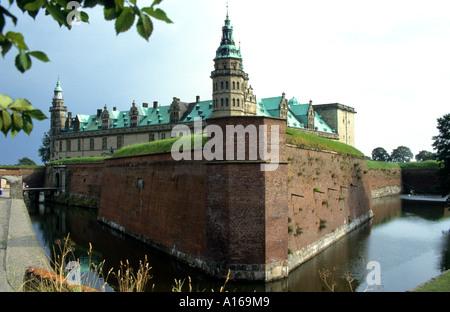 Denmark Hillerod Frederiksborg Castle palace Royal  King Frederick II - Stock Photo