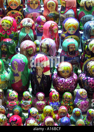 Locally made Russian nesting dolls with contemporary designs Grand Bazaar Istanbul - 2010 European Capital of Culture - Stock Photo