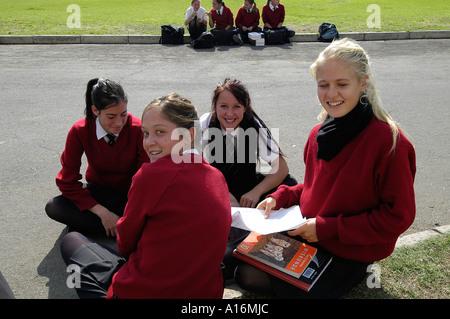 South Africa People Oudtshoorn High School Struis Boys Girls Teenager - Stock Photo