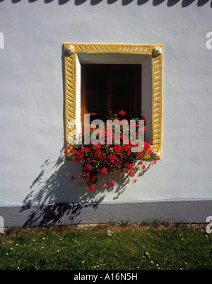 single window at the historical  village of  Holasovice Ceske Budejovice Czech Republic, Europe. Photo by Willy - Stock Photo