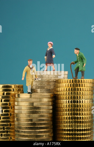 provision for old age - Stock Photo