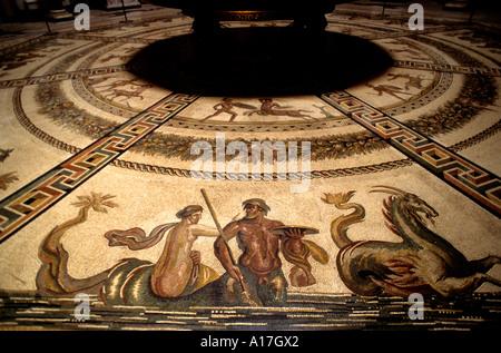 Athens Mosaic floor work Greek greece Mosaics - Stock Photo