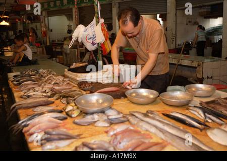 Central Market, Shunde, Foshan, GuangDong, China. - Stock Photo