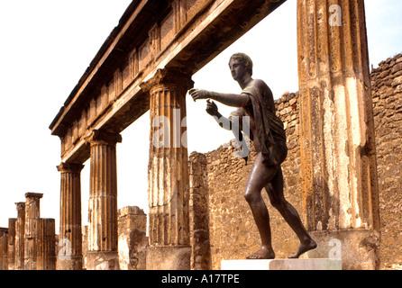Pompeii Roman Ruined dead City Vesuvius Italy - Stock Photo