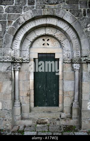 Santa Eulalia Romanesque monastery in Vila Nova de Famalicao. Portugal. - Stock Photo