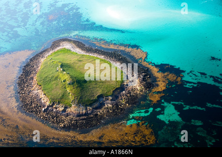 St Martins Island aerial view Isles of Scilly Cornwall