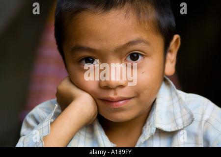 2007 Small Boy at Bac Ha Market Near Sapa Vietnam - Stock Photo