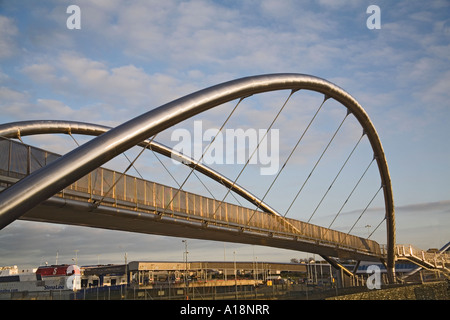 HOLYHEAD ISLE OF ANGLESEY NORTH WALES UK December The Celtic Gateway Bridge built with Eurpoean Funding connecting - Stock Photo