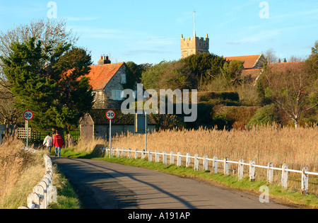 The Causeway, Freshwater, Isle of Wight, England - Stock Photo