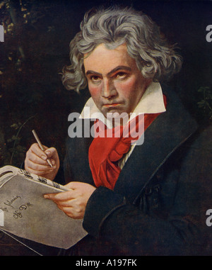 LUDWIG VAN BEETHOVEN  German composer 1770 to 1827 - Stock Photo