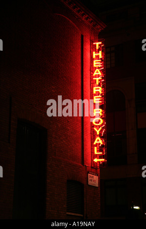 Theatre Royal Drury Lane in London England - Stock Photo