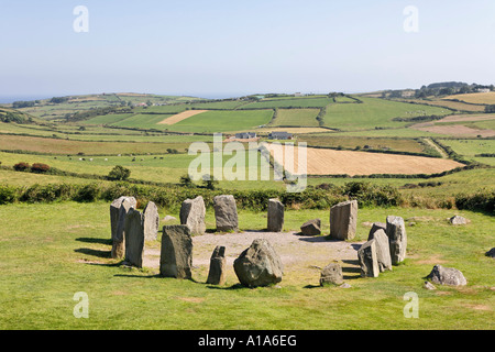 Drombeg Stone Circle, County Cork, Ireland - Stock Photo