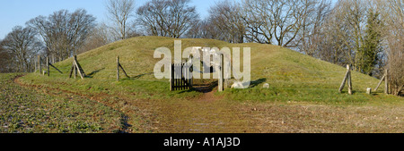 Hetty Peglers Tump Uley Long Barrow 3000BC - Stock Photo