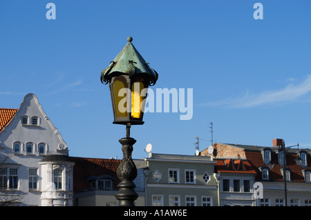 street lamp foreground sharp - Stock Photo