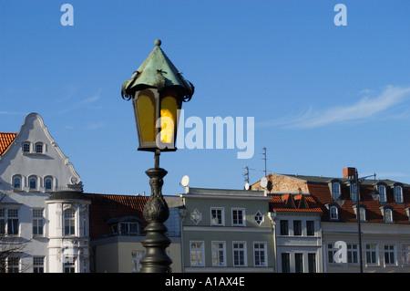 street lamp background sharp - Stock Photo