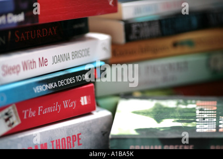 stack of novels - Stock Photo