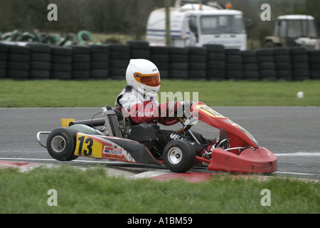 kart over ireland Irish Mini Max kart driver leads the field through the first  kart over ireland