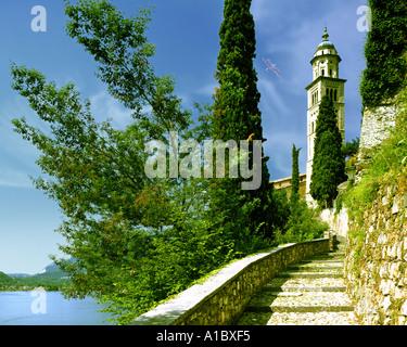 CH - TICINO: Morcote on Lake Lugano - Stock Photo