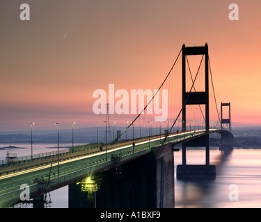 GB - AVON: Severn Bridge near Bristol - Stock Photo