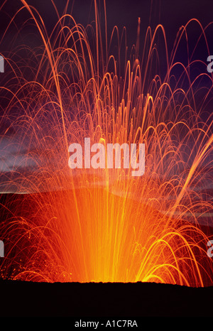 The Mt.Yasur Volcano, Vanuatu - Stock Photo