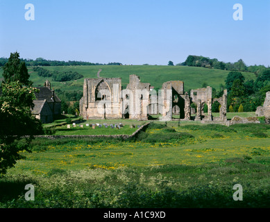 Ruins of Easby Abbey, near Richmond, North Yorkshire, England, UK. - Stock Photo