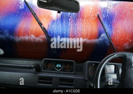 Automatic Car wash - Stock Photo