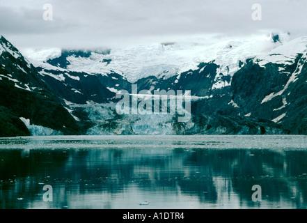 Alaska Glacier Bay National Park and Preserve Johns Hopkins Glacier as seen from a cruise ship - Stock Photo