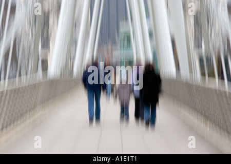 Commuters in London England United Kingdom - Stock Photo