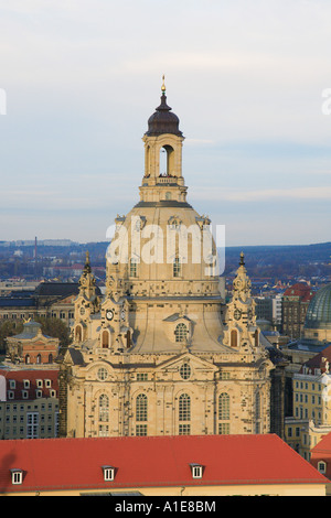 Church of Our Lady in Dresden, the Frauenkirche, Germany, Saxony, Dresden - Stock Photo