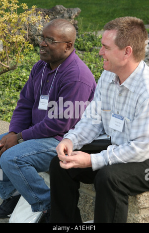 California Orange County Garden Grove Crystal Cathedral Black White male church leadership conference - Stock Photo