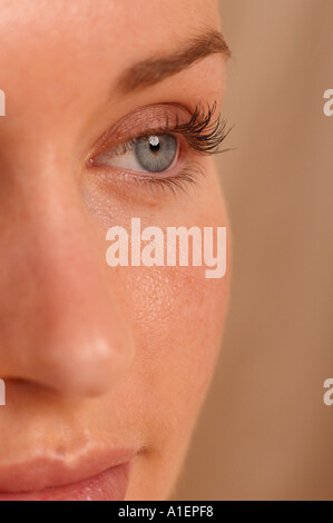 Partial view of female face - Stock Photo