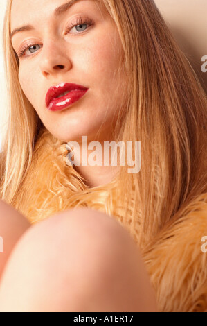 Portrait of blonde looking to camera - Stock Photo