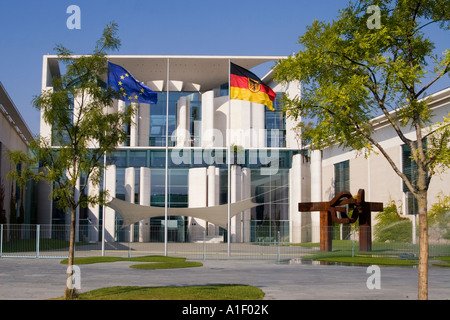 Berlin chancellor office Berlin Tiergarten Bundeskanzleramt - Stock Photo
