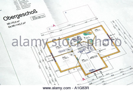 Architect Contract · Grundriss Eines Hauses Hausplan Floor Plan Of A House    Stock Photo
