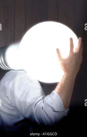Man with a big idea - Stock Photo